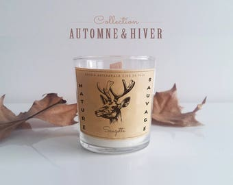 (Choose scent) - Nature wild - soy wax scented candle