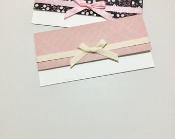 Money Envelopes with Note Cards - Set of 2