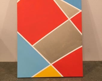 Abstract Graphic Acrylic Painting