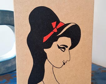 Amy Winehouse Card - Amy Winehouse - Music Icon - Cool Greeting Card - Music Card