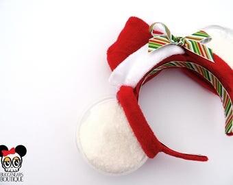 Snow Globe Christmas Mouse Ears || Chirstmas Disney Ears || Christmas Mickey Ears || Christmas Ears