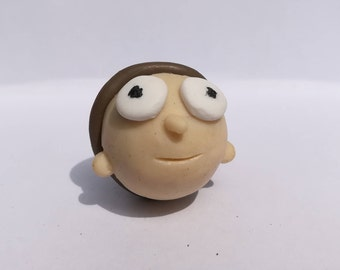 Rick and Morty Polymer Clay Morty Keychain