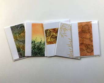 SALE! Set of 5 blank cards, original artwork, not reproductions, fine cards, notecards, SKU BLA2SET7