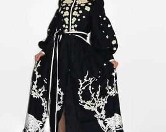 Vyshyvanka Dress Ukrainian Embroidery Boho Dresses Bohemian Clothing Vishivanka Custom Embroidery Embroidered Dress Maxi Mexican Clothes