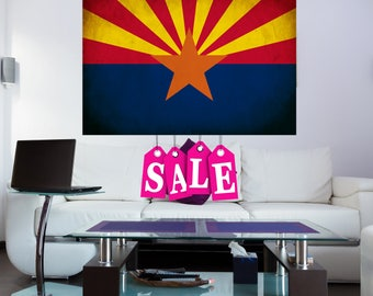 ARIZONA state FLAG canvas AZ Arizona state flag Dorm Decor Arizona state flag canvas art Arizona state flag large canvas Home Decor Az art