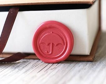 Umbrella wax seal stamp kit, wedding wax seal, Christams gift,party wax seal stamp set, invitation wax stamp