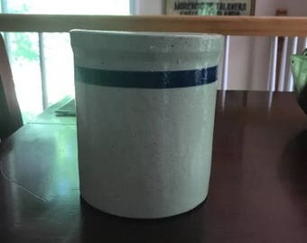 Vintage Crockery/ Kitchen Ware/Blue Band/Small Chip as seen in pics/ great holder for kitchen utensils