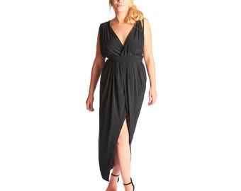 Rimi Wrap Front Maxi Dress