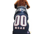 New England Patriots Mesh Pet Dog Jersey - Personalized