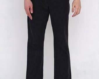 VINTAGE Black WRANGLER Retro Bottom Denim Jeans