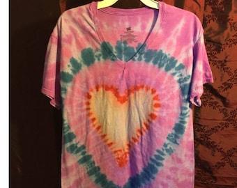 Tie-Dyed T-Shirt Heart Design