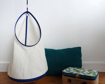 Children hanging storage - large - blue