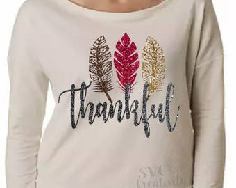 Thankful SVG, Thanksgiving SVG, Fall SVG