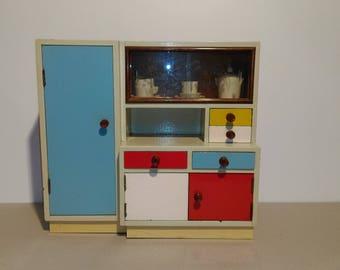 Vintage Kitchen Cabinet Toys/Storage Cupboard/Antique Wardrobe