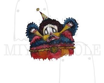 Bo the Clown: Smile for Me Print