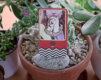 Laura Palmer Rose Gold Enamel Pin // Twin Peaks, david lynch, trading card