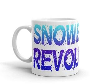 Snowboard Revolution Mug Wrap Around Text Snowboarding Coffee  - Gradient Birthday Gift