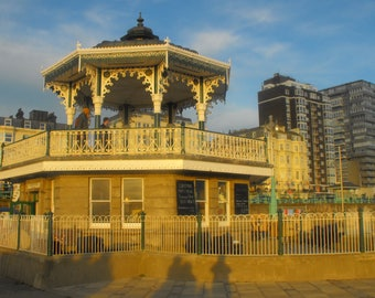 The Bandstand, Brighton -  sunset  canvas
