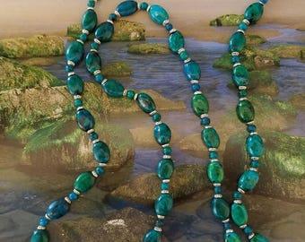 Aqua Stone Necklace