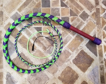 Bullwhip - Joker Theme - 6ft 16 Plait NYLON PARACORD-WAXED