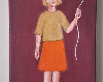 original painting red balloon