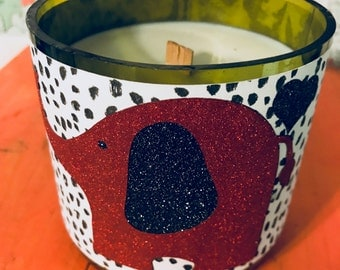 Glittery Elephant Hand-Poured Soy Wax Candle