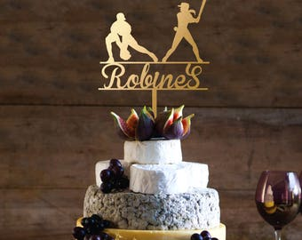 Baseball Cake Topper Wedding Mr And Mrs Last Name