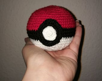 Pokémon - cute crocheted Pokeball - gehäkelter Pokeball