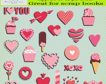 Sweets and Cupcakes sticker sheet