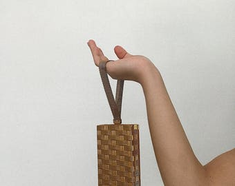 Small gold structured bag