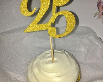 25 Cupcake Topper