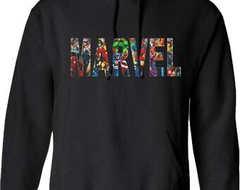 Marvel Hoodie Avengers Batman Captain America Hulk Superman Wonder Woman Flash Ironman Spider-Man Birthday Gift Mens Women Unisex Hoody