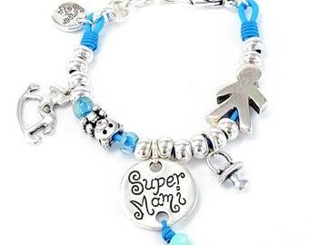 Women's bracelet in silver Mama messages