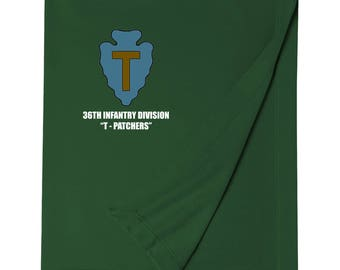 36th Infantry Division Embroidered Blanket-6981