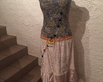 Sun dress, Charlestonkleid, button row black