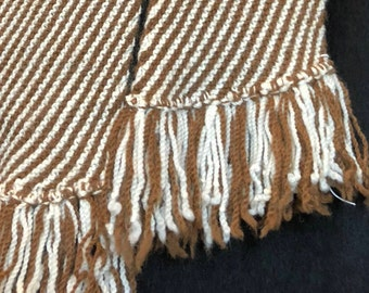 Paco-Vicuna Hand-Knitted Scarf, Beautiful Stripes, Incredibly Soft & Luxurious