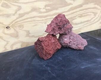 Red Lava Rock Aquascape Stone ADA Aquarium Fish Plant Shrimp Driftwood