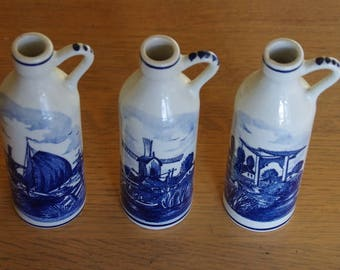 Decanter bottle blue Delft - Holland