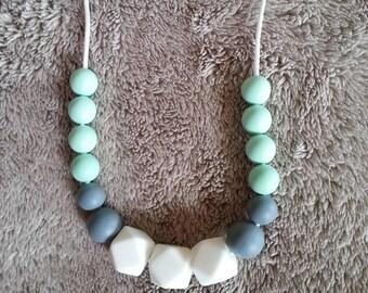 Food grade silicone nursing necklace