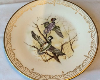 Vintage Edward Marshall Boehm Bird Plate - Collectible Hooded Mergansers Plate