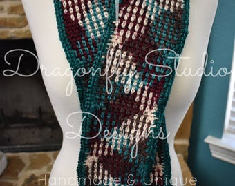 Teal Berry Handmade Crochet Scarf