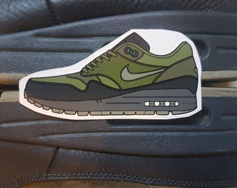 Nike Air Max 1 Premium Dark Stucco Trainer Sticker