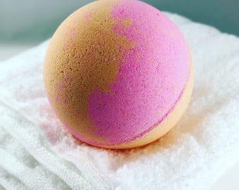 Pink Grapefruit Bath Bomb - Citrus Bath Bomb, Citrusy Bath Bomb, Fruity Bath Bomb, Fruity Bath Fizzie, Fresh Natural Invigorating Bath Bomb