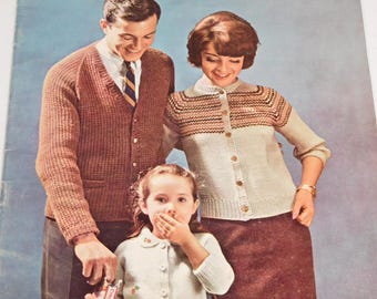 Vintage Knitting Pattern Book