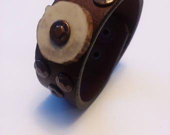 Handmade Leather Cuff Bracelet