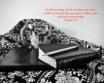 Photography of still life and scripture