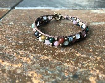 Hemp and jasper bracelet, Jasper Bead Bracelet, Hemp Bracelet, Jasper Bracelet, Beaded Bracelet