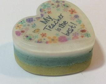 My teacher is the best handmade organic soap