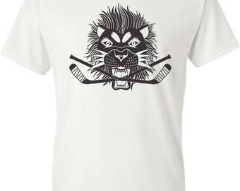 Hockey Lion Crushing Sticks Tee