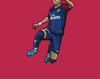 Neymar - PSG - Illustration